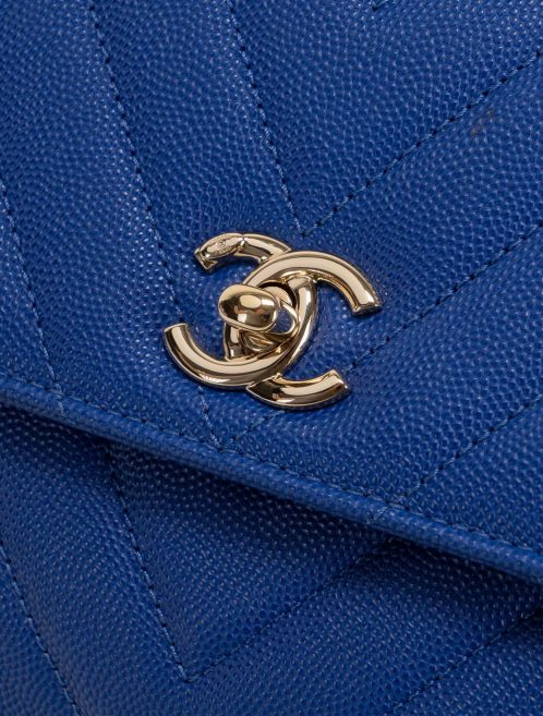 Chanel Timeless Handle Small Caviar Blue Blue  | Sell your designer bag on Saclab.com
