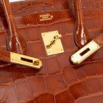 Hermès Birkin 35 Alligator Mississippi Marron