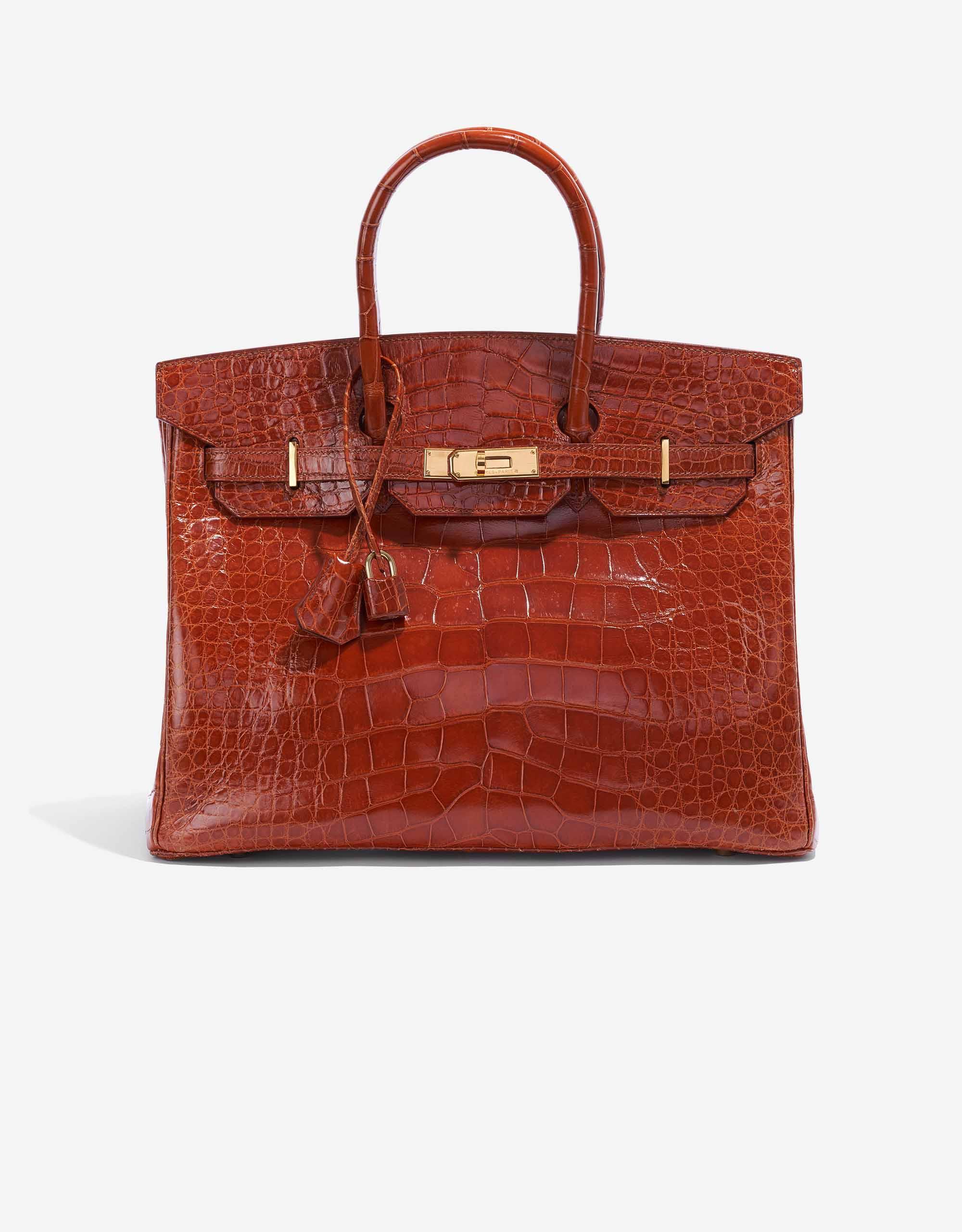 Hermès Birkin 35 Alligator Mississippi Marron | SACLÀB