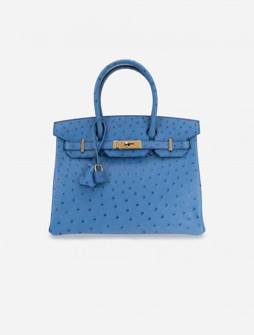 Hermès Birkin 30 Ostrich Blue Mykonos