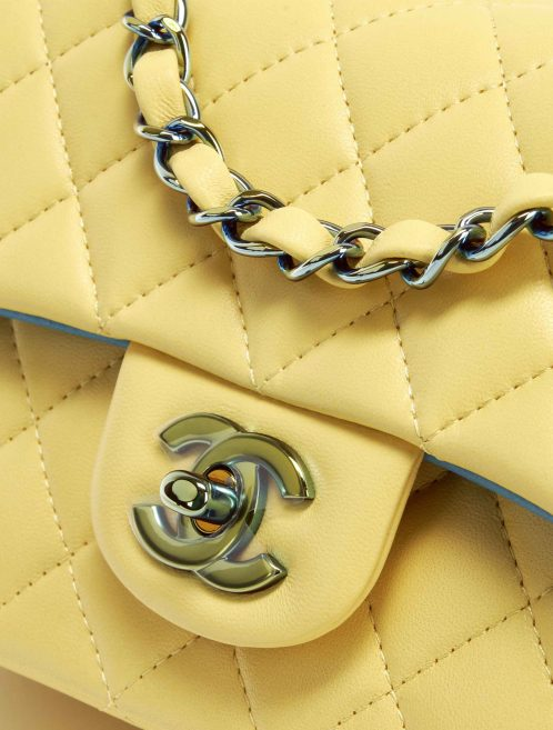 Chanel Rainbow Timeless Mini Rectangular Lamb Yellow / Petrol