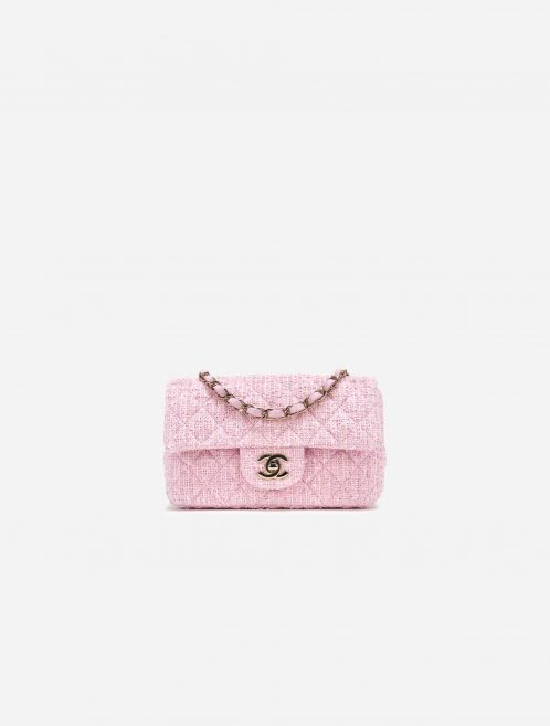 Chanel Timeless Mini Rectangular Tweed Pink