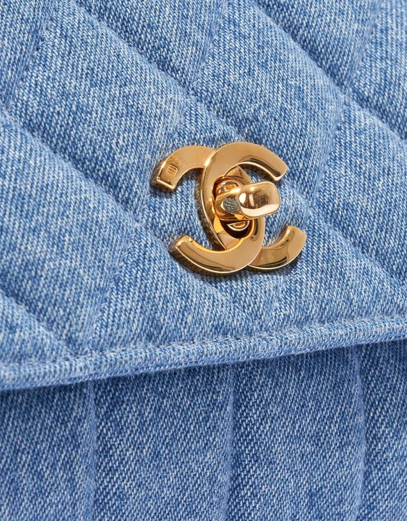 Chanel Vintage Flap Medium Denim Blue
