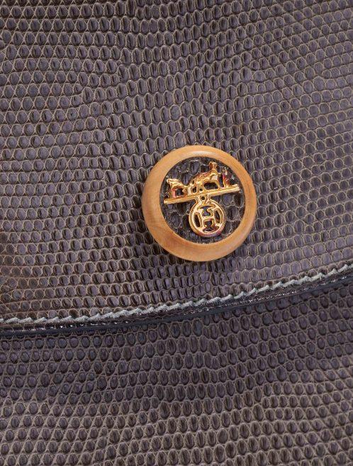 Hermès Rio Lizard Gris Fonce