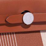 Hermès Herbag 31 Vache Hunter / Toile H Vibration Fauve / Ecru-Beige