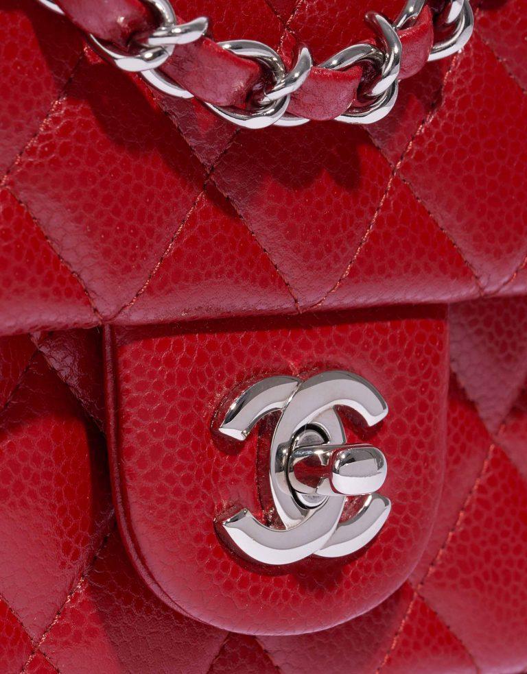 Chanel Timeless Mini Rectangular Caviar Red Hardware