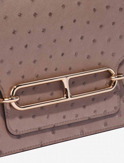 Hermès Roulis 18 Ostrich Gris Asphalte