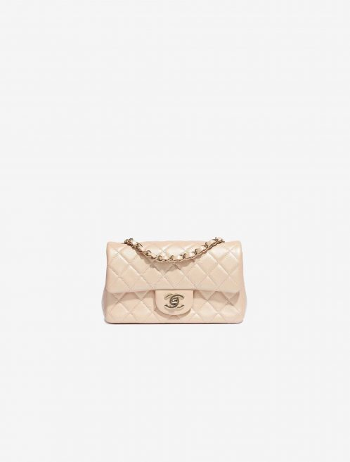 Chanel Timeless Mini Rectangular Lamb Irisdescent Beige