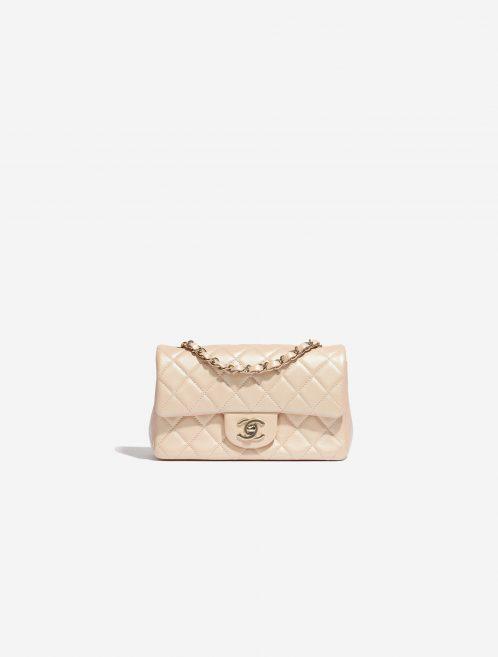 Chanel Timeless Mini Rectangular Lamb Irisdescent Beige