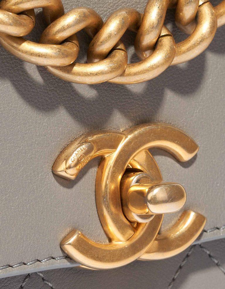 Chanel Timeless Chain Handle Lamb Grey