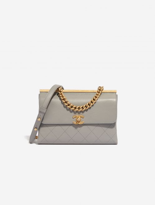 Chanel Timeless Chain Handle Lamb Grey Gray    Sell your designer bag on Saclab.com
