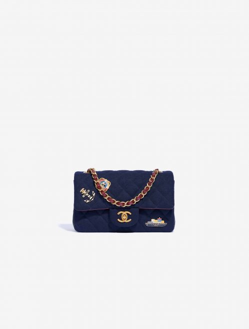 Chanel Timeless Mini Rectangular Calf / Wool Navy
