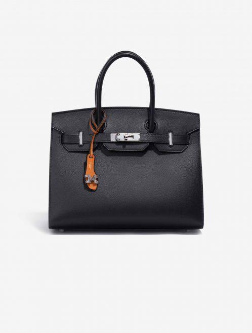 Hermès Oran Nano Salvator Lizard Ombre / Black / Natural Sable