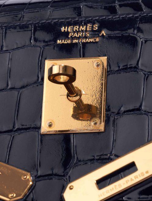 Hermès Kelly 35 Crocodile Porosus Bleu Marine