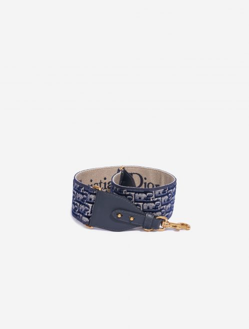 Dior Shoulder Strap Oblique Embroidery Blue