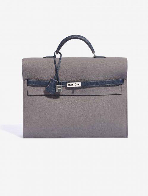 Hermès Kelly Depeche 34 Clemence Gris Mouette / Blue Nuit