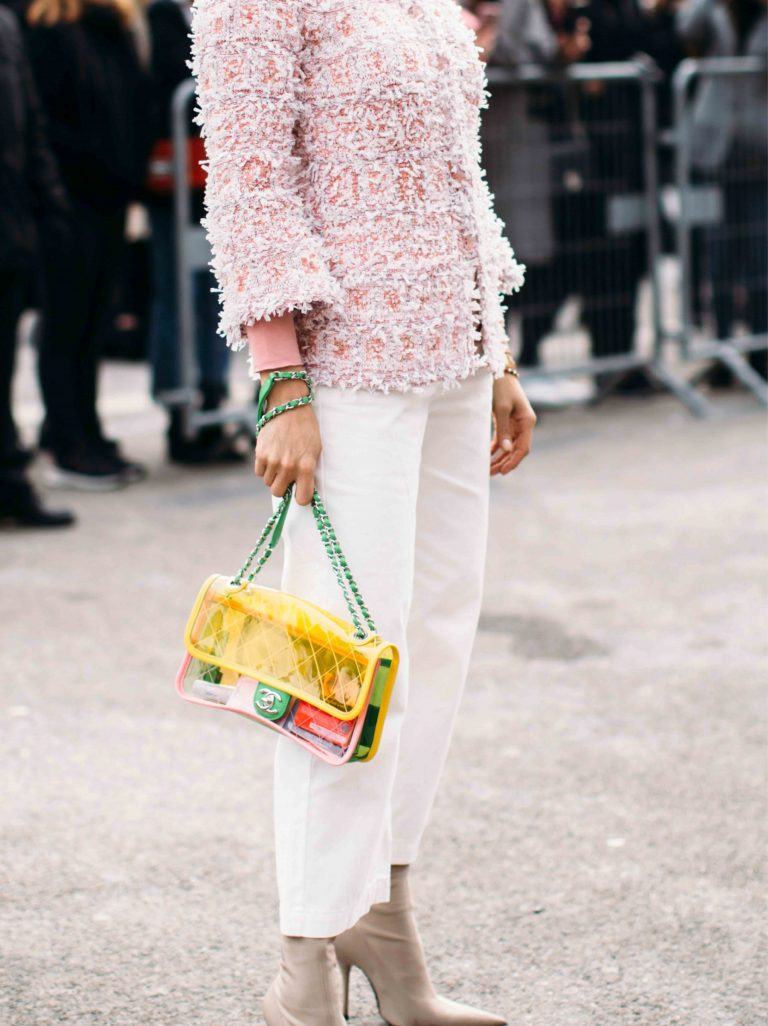 SACLÀB colourful Chanel PVC Flap Bag Streetstyle