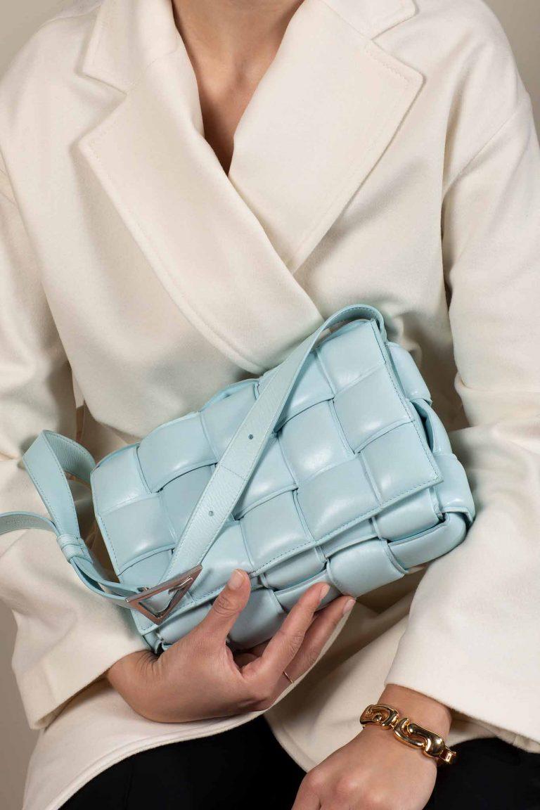 SACLÀB Bottega Veneta Cassette Light Blue Crossbody Bag