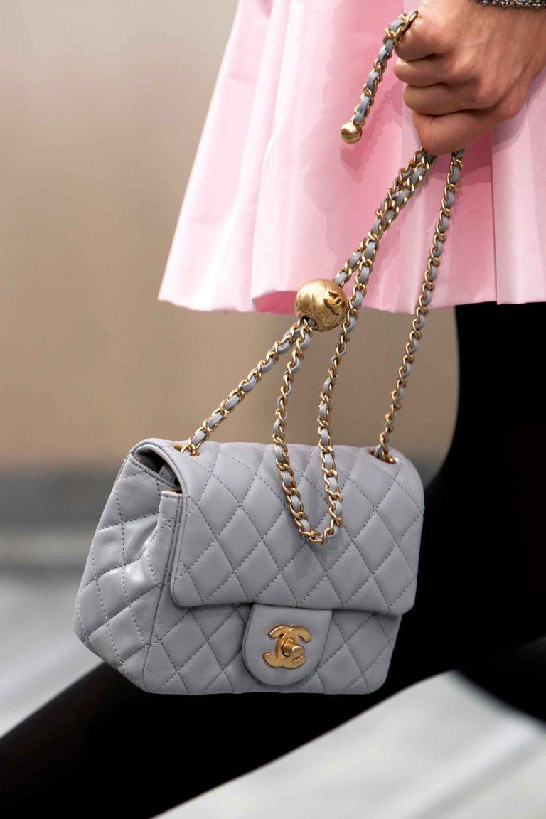 SACLÀB Chanel grey Flap Bag Runway S20 Imaxtree