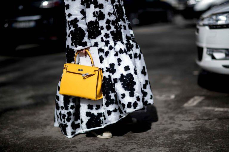 SACLÀB yellow Hermès Kelly Imaxtree