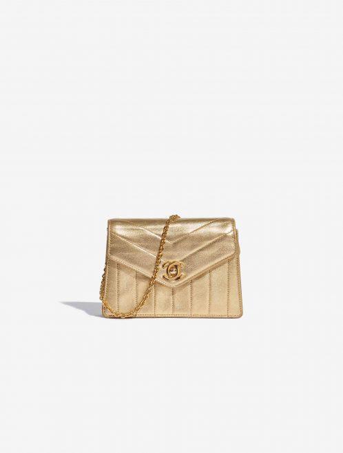 Chanel Vintage Clutch Lamb Gold