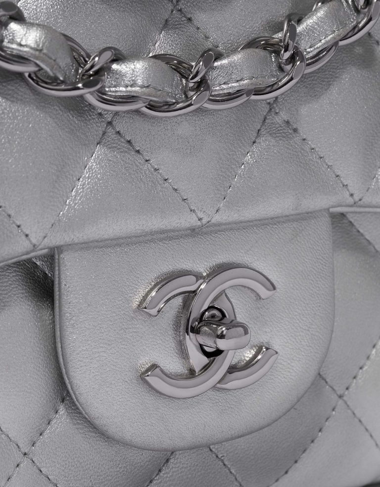 Chanel Timeless Jumbo Lamb Silver