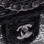 Chanel Timeless Medium Paillette Black / Silver