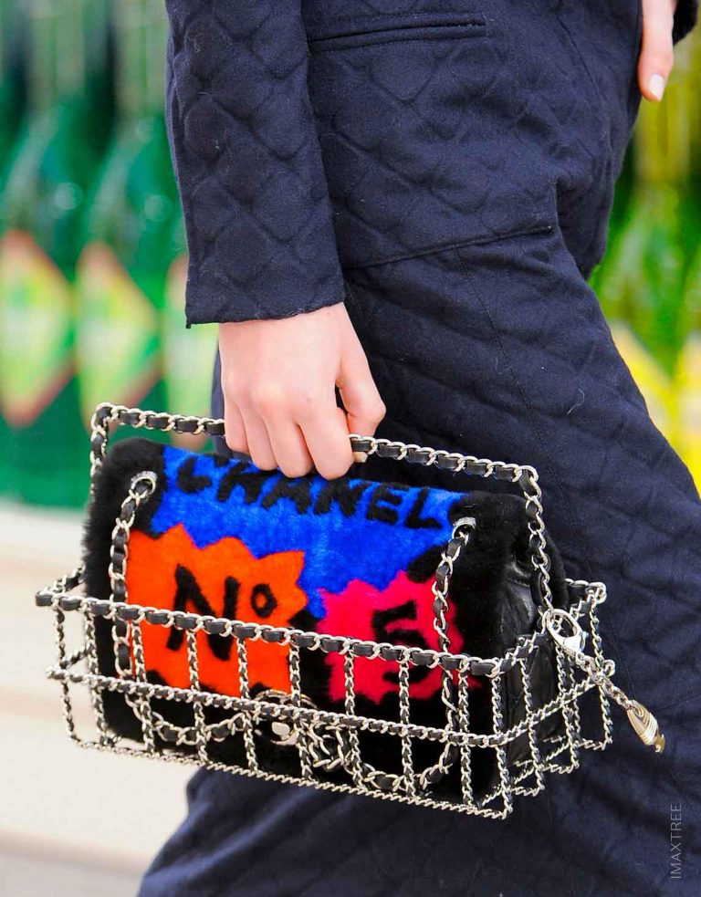 Chanel Timeless Maxi Shearling Pop Art No. 5 Runway