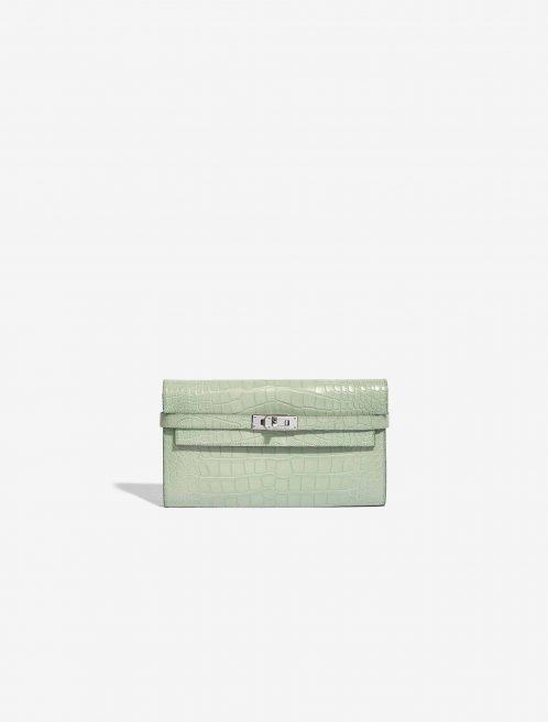 Hermès Kelly Long Wallet Alligator Matte Vert D'Eau
