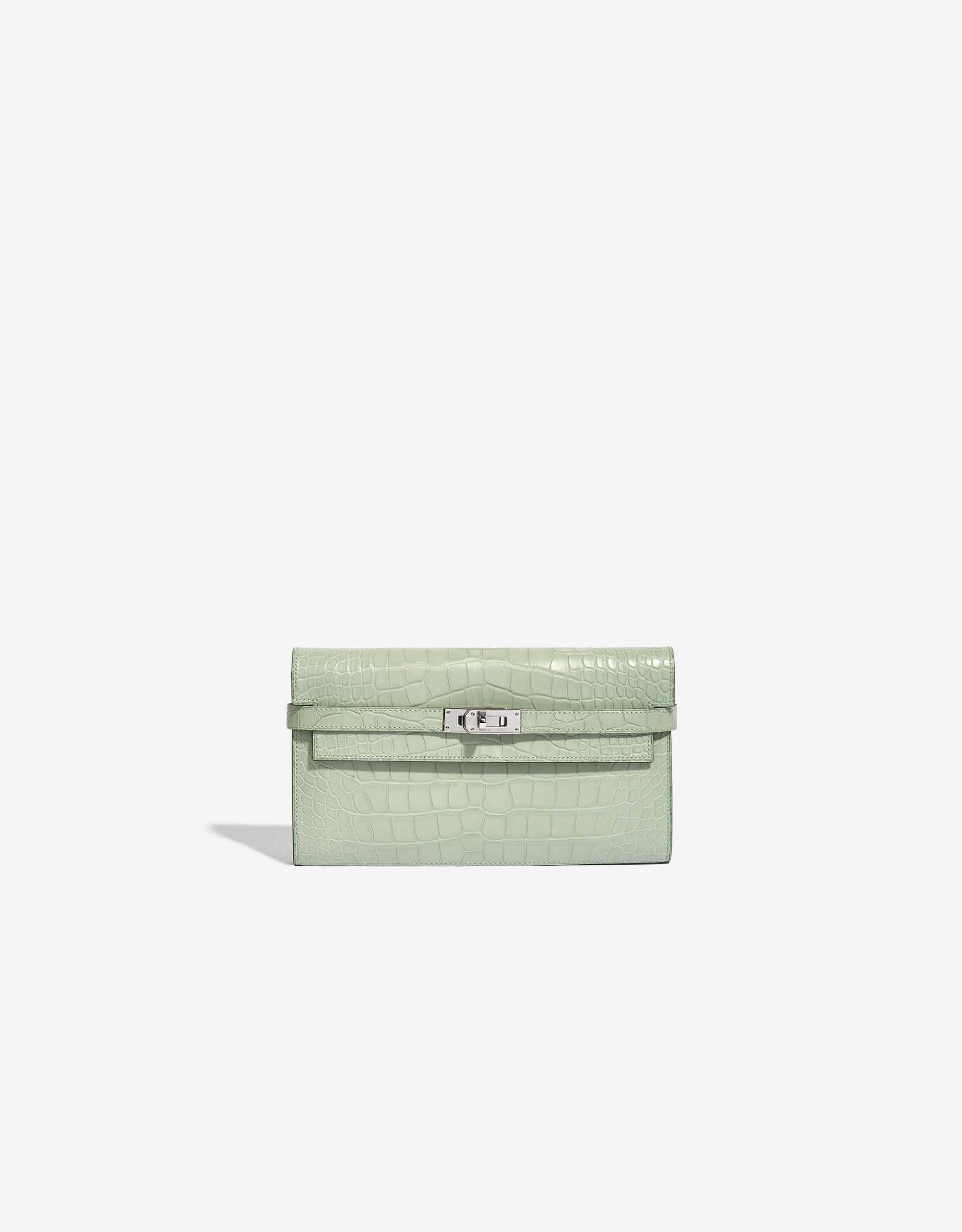 Hermès Kelly Long Wallet Alligator Matte Vert D'Eau | SACLÀB