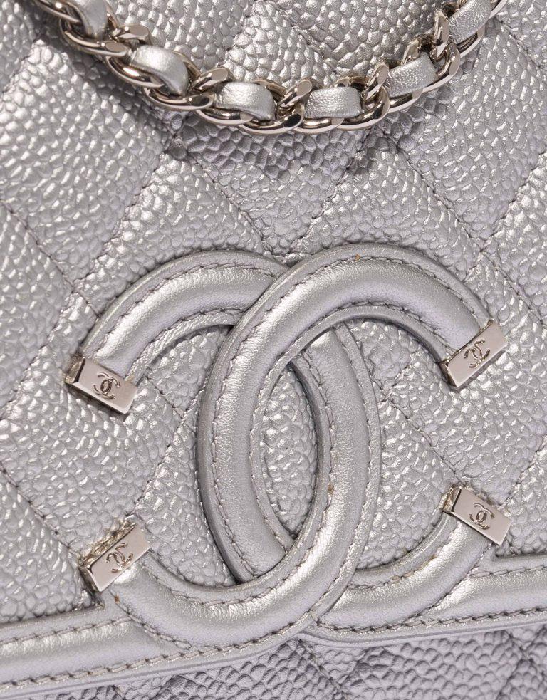 Chanel Filigree WOC Caviar Silver