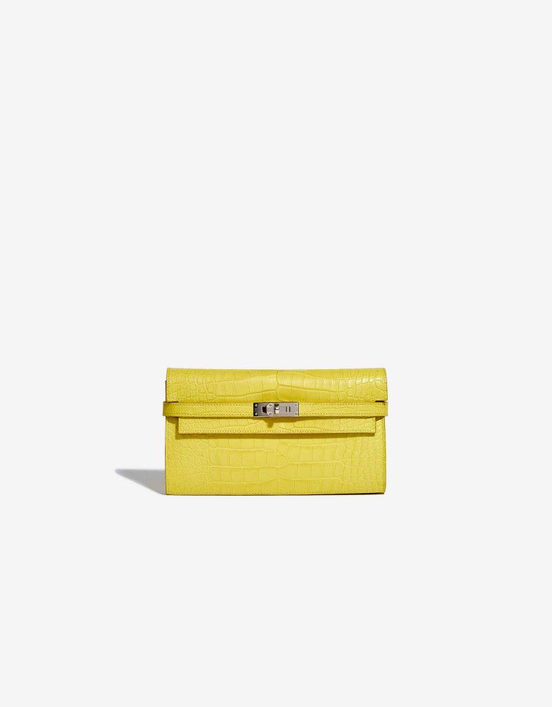 Hermès Kelly Long Wallet Alligator Matte Mimosa