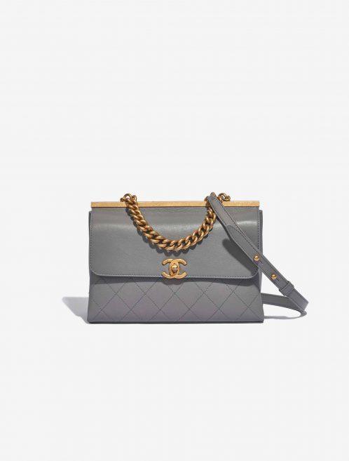 Chanel Timeless Chain Handle Lamb Grey Chanel Timeless Chain Handle Lamb Grey