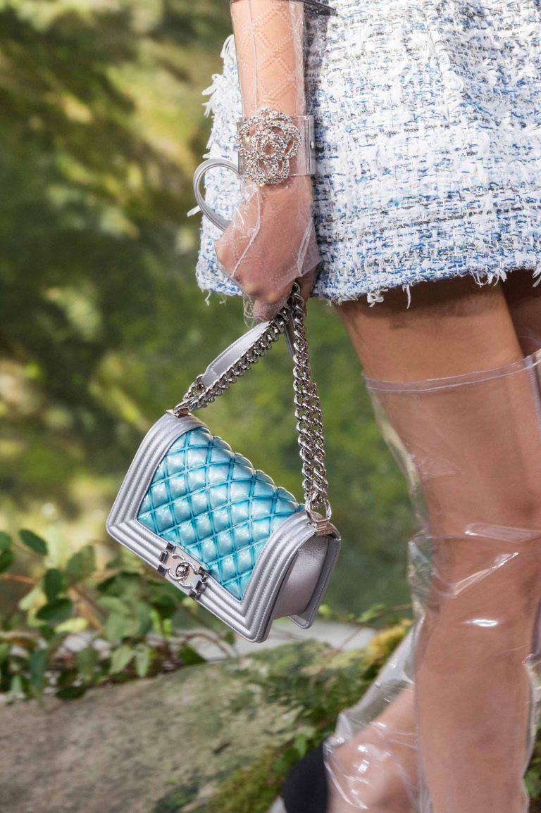 Iridiscent Chanel Boy Bag Runway Spring Summer 2018 | Shop pre-loved luxury bags at SACLÀB