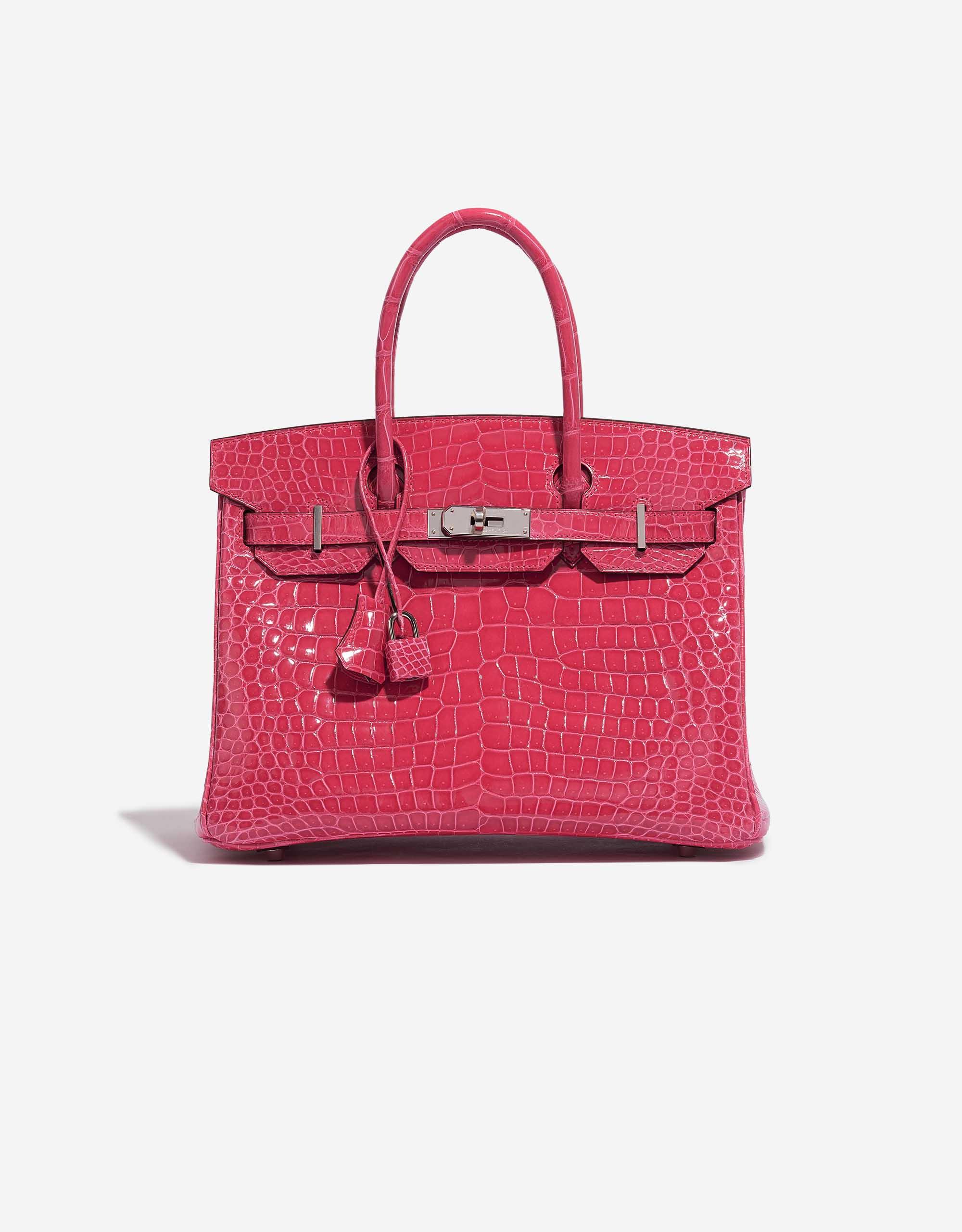 Hermès Birkin 30 Porosus Crocodile Rose Extreme | SACLÀB