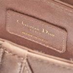 Dior Saddle Mini Satin Beige Rose