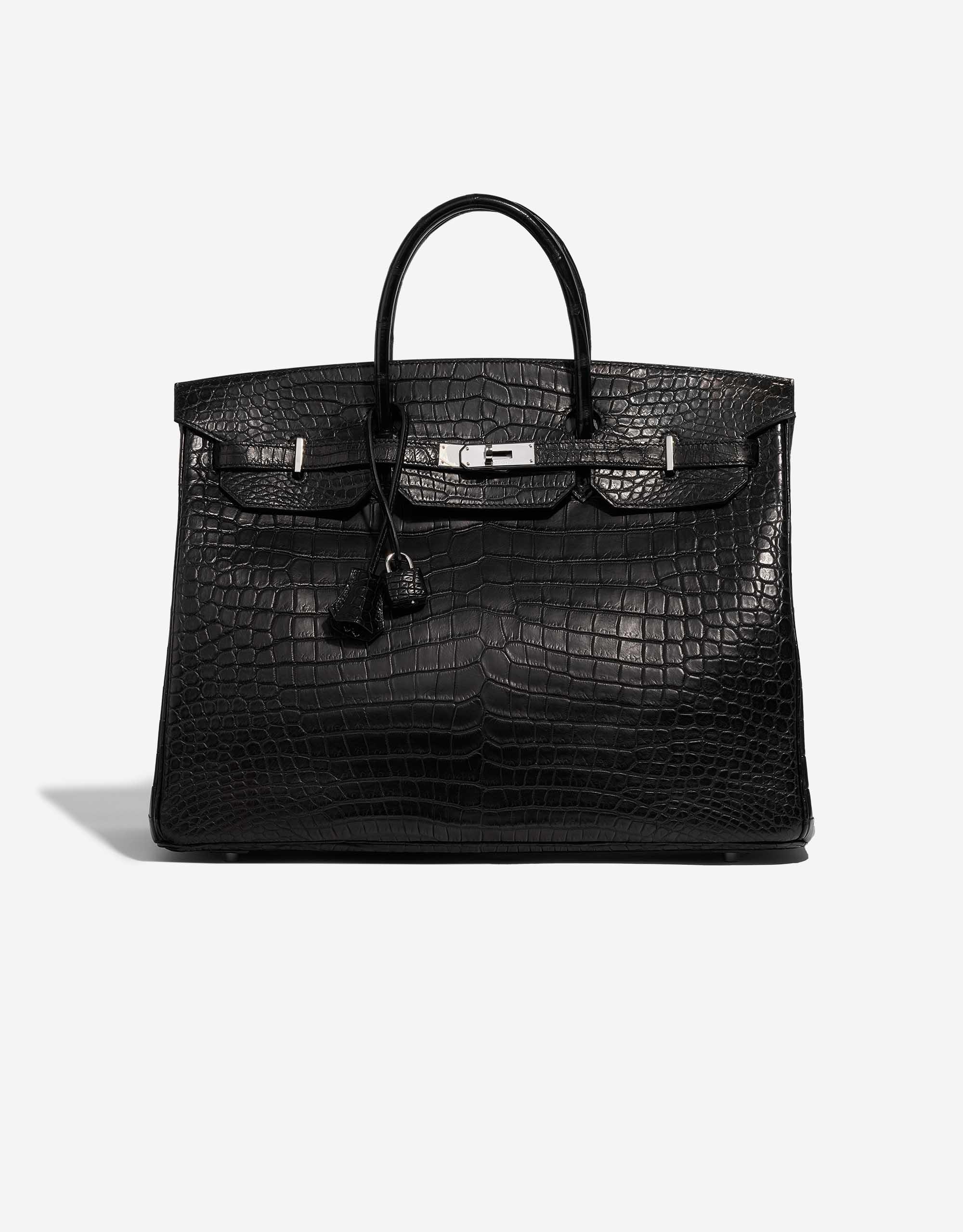 Hermès Birkin 40 Matte Porosus Crocodile Black | SACLÀB