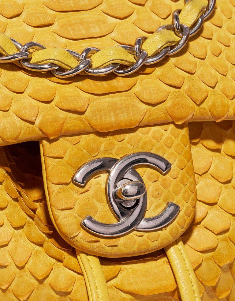 Chanel Backpack Python Yellow