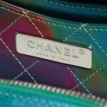 Chanel Vanity Case Small Rainbow Patent Iridescent Green / Transparent