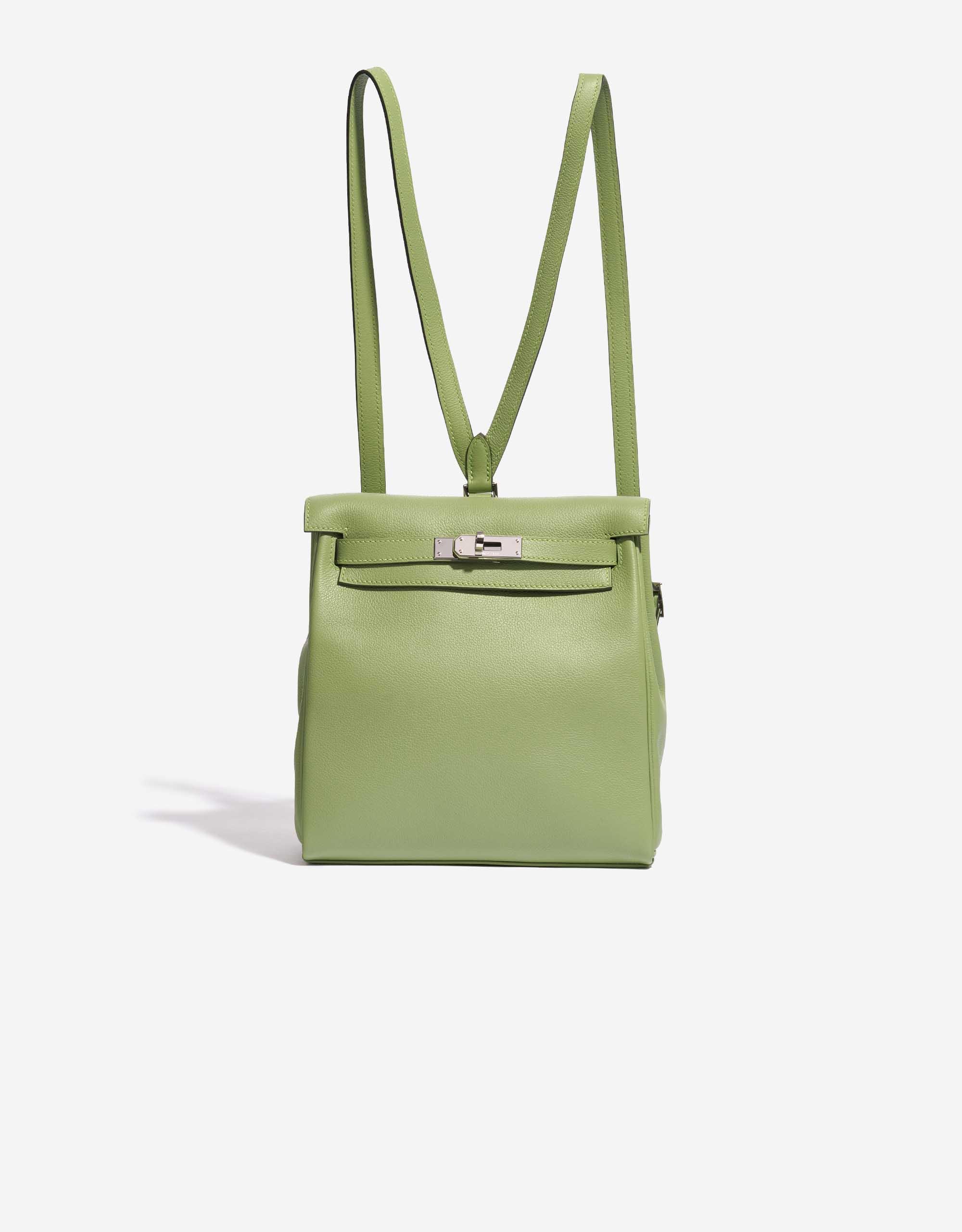 Hermès Kelly Ado PM Evercolor Vert Criquet / Bleu Brume | SACLÀB