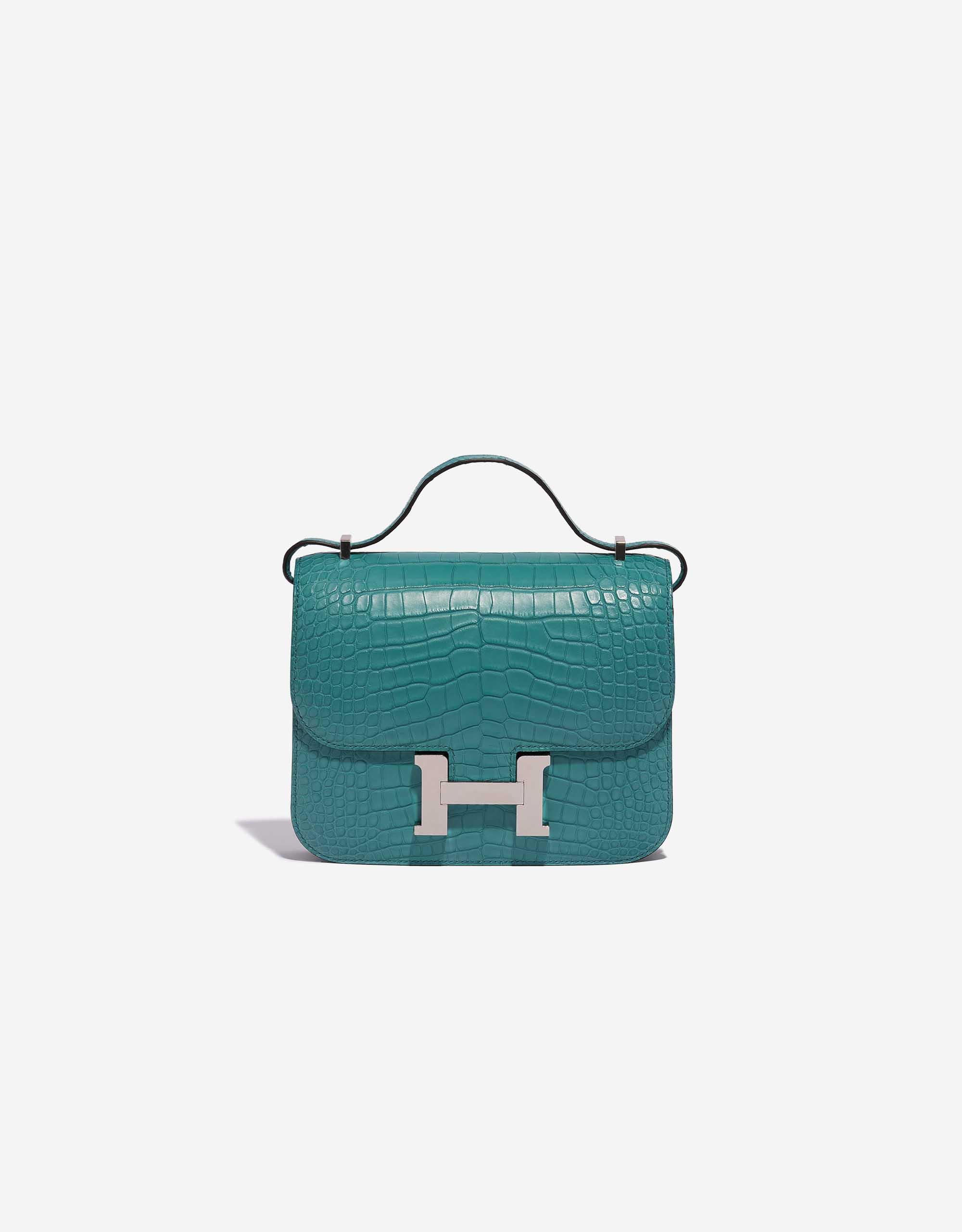 Hermès Constance 18 Matte Alligator Blue Paon | SACLÀB