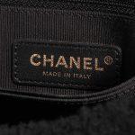 Chanel Handle Medium Shearling Black