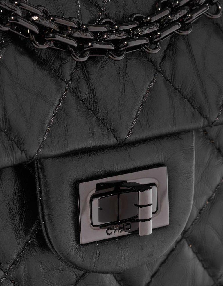 Chanel 2.55 Mini Rectangular Aged Calf So Black