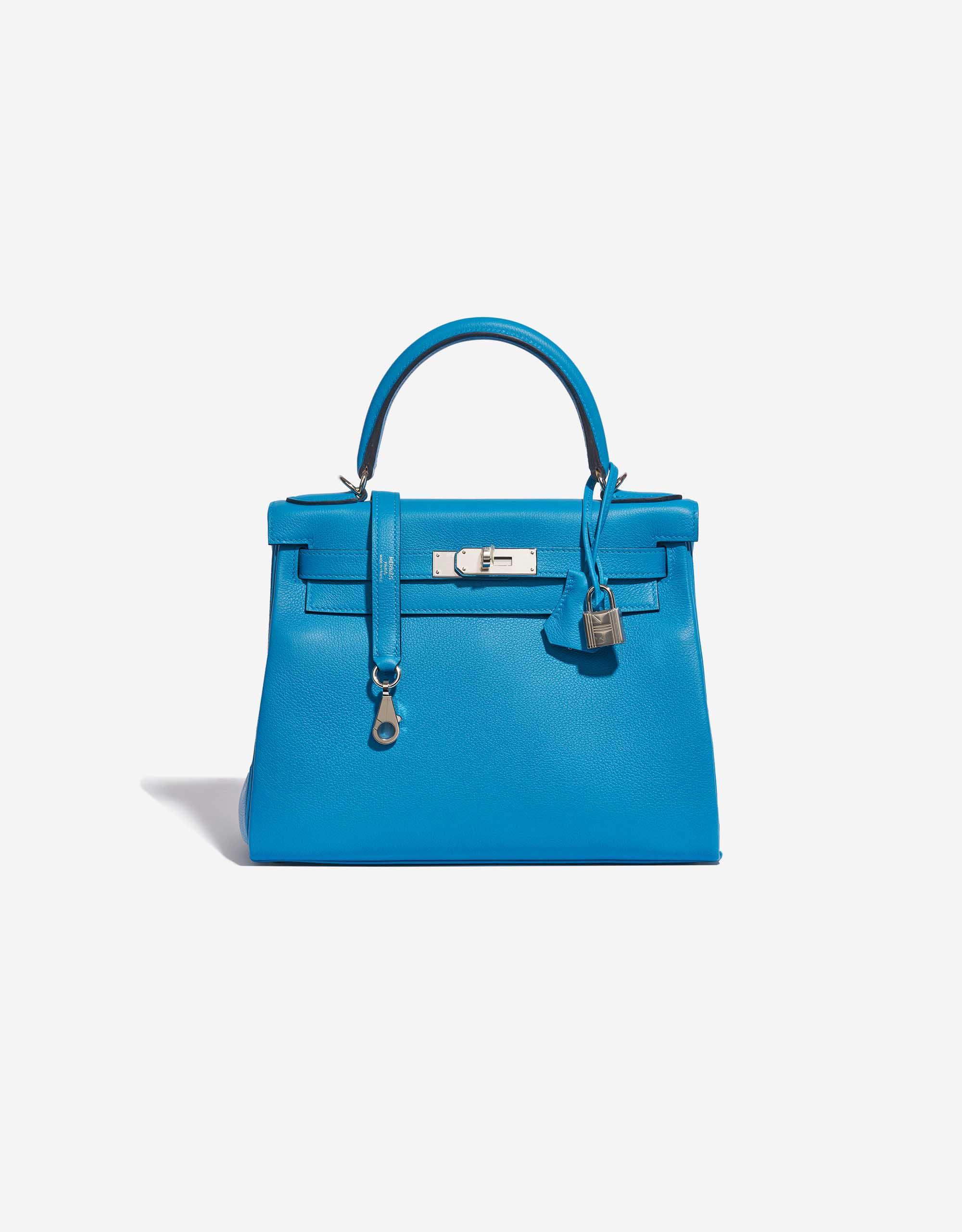 Hermès Kelly 28 Evercolor Blue Frida | SACLÀB
