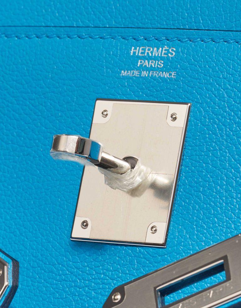 Hermès Kelly 28 Evercolor Blue Frida