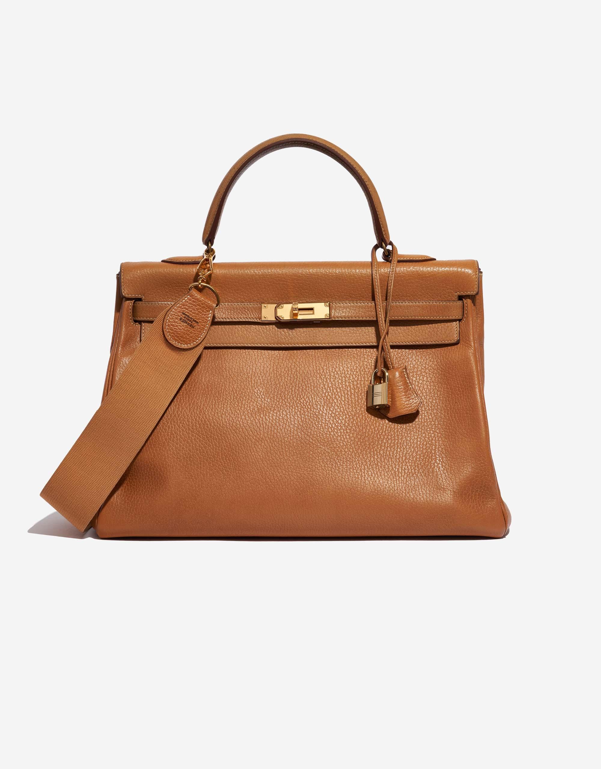 Hermès Kelly 35 Buffalo Gold | SACLÀB