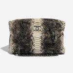 Chanel Shopping Tote Python Black / Beige Black, Natural Front | Sell your designer bag on Saclab.com