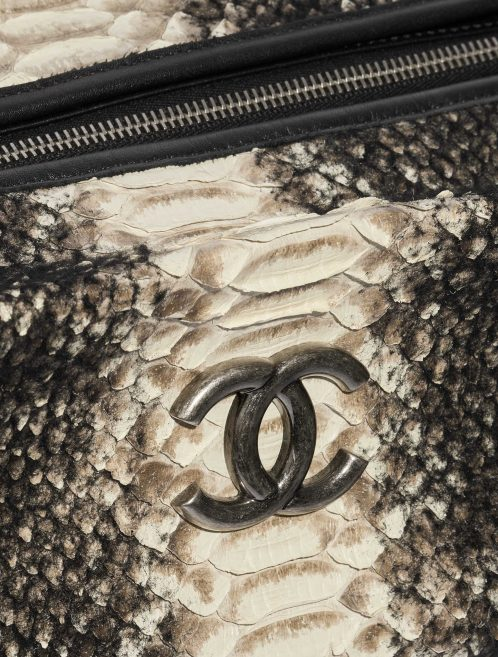 Chanel Shopping Tote Python Black / Beige Black, Natural Closing System | Sell your designer bag on Saclab.com
