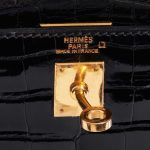 Hermès Kelly 25 Alligator Black Black Closing System   Sell your designer bag on Saclab.com