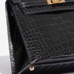 Hermès Kelly 25 Alligator Black Black Detail   Sell your designer bag on Saclab.com